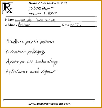 Fake Prescription Template 352373