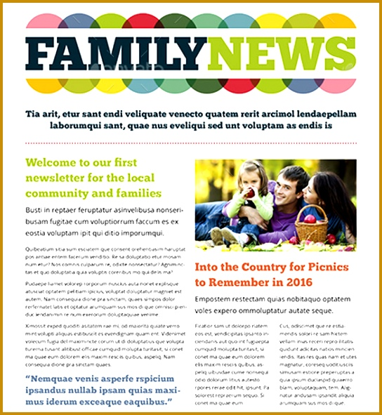 Family Newsletter $6 591544