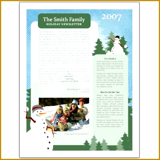 Holiday Newsletter Examples 558558