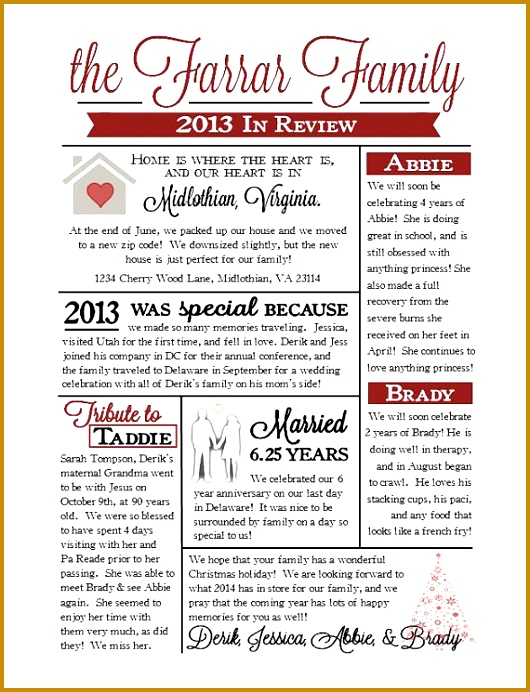 Custom Christmas Family Newsletter by EternalandTimeless on Etsy 530692