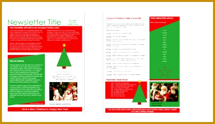 free holiday template 255441
