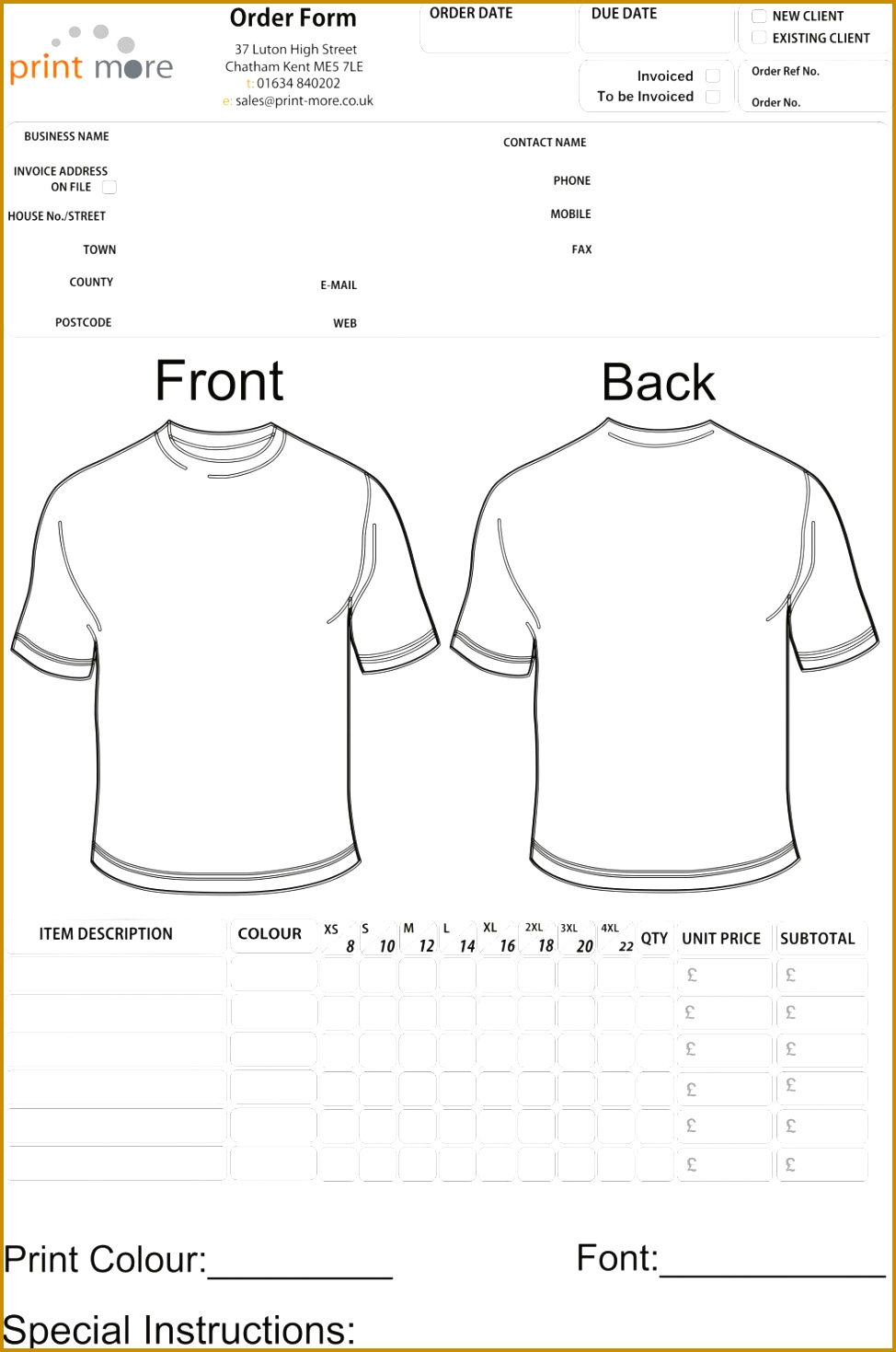 7 family reunion t shirt order form template fabtemplatez. Black Bedroom Furniture Sets. Home Design Ideas