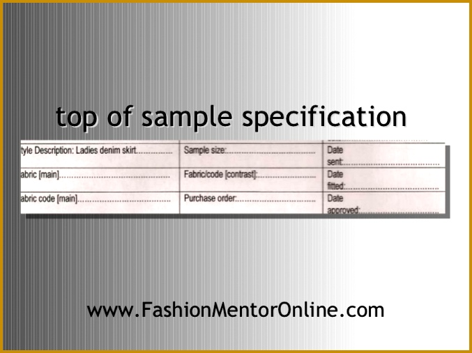 of sample specification 677507