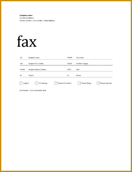 Fax cover sheet Professional design 558429