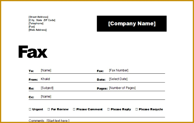Fax Cover Sheet Template 424666