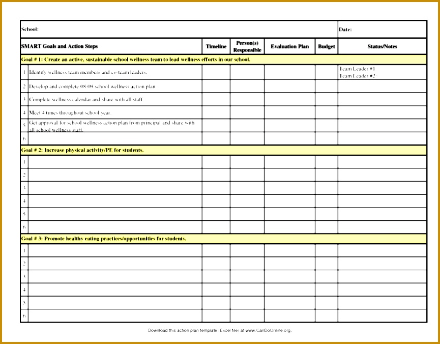 Financial Action Plan Template Fxhpk Best Annual Sales Plan Template Masir 676865