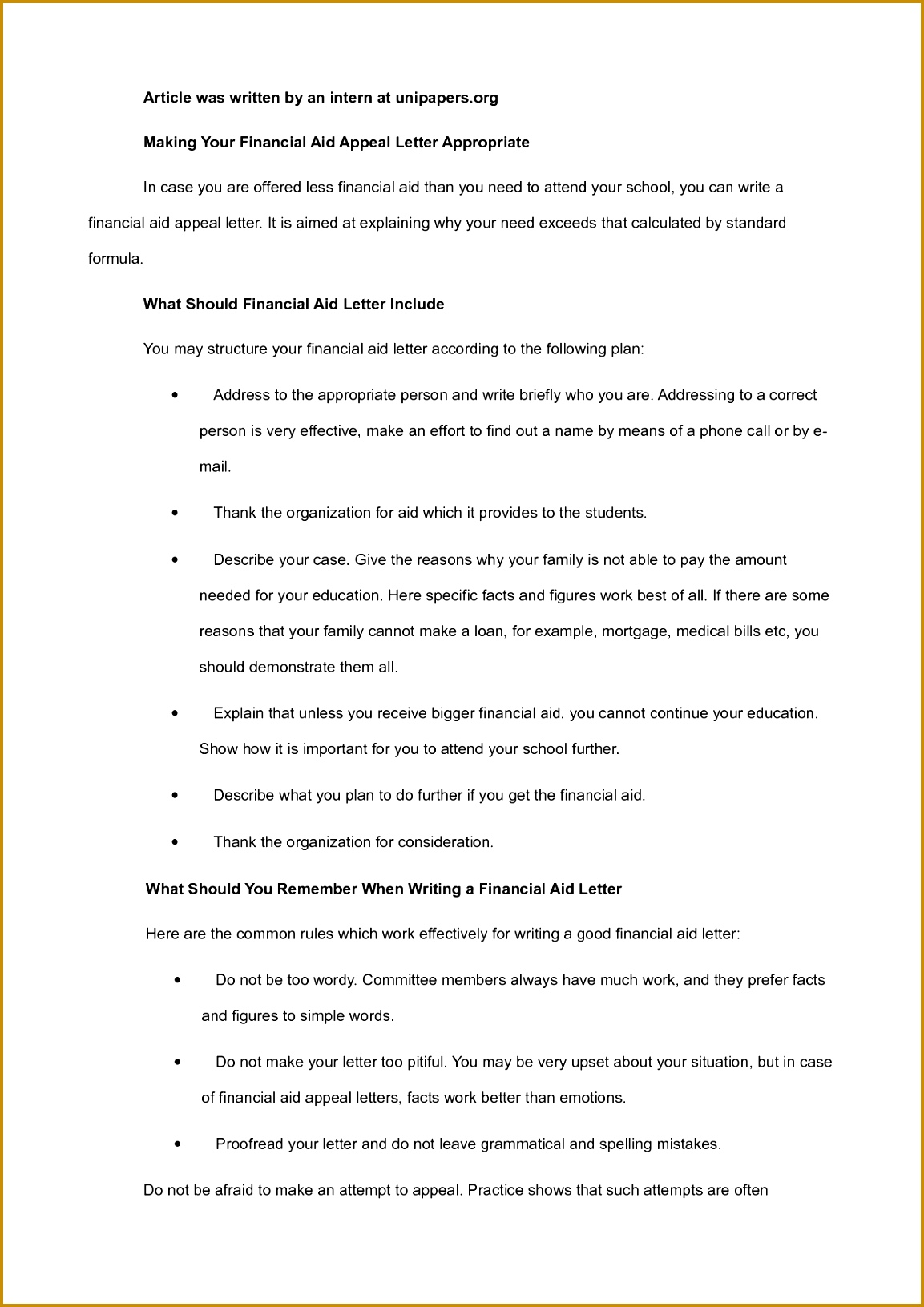12 Best Financial Aid Appeal Letter Templates 11531631