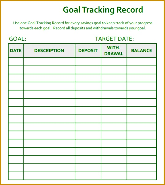 3 financial goal setting template