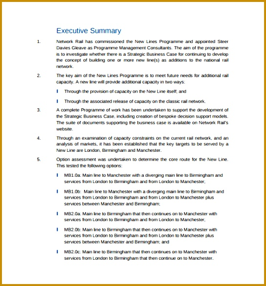 Strategic Business Case PDF Template Free Download 586544