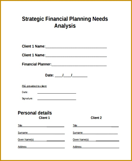 3 financial planning questionnaire template