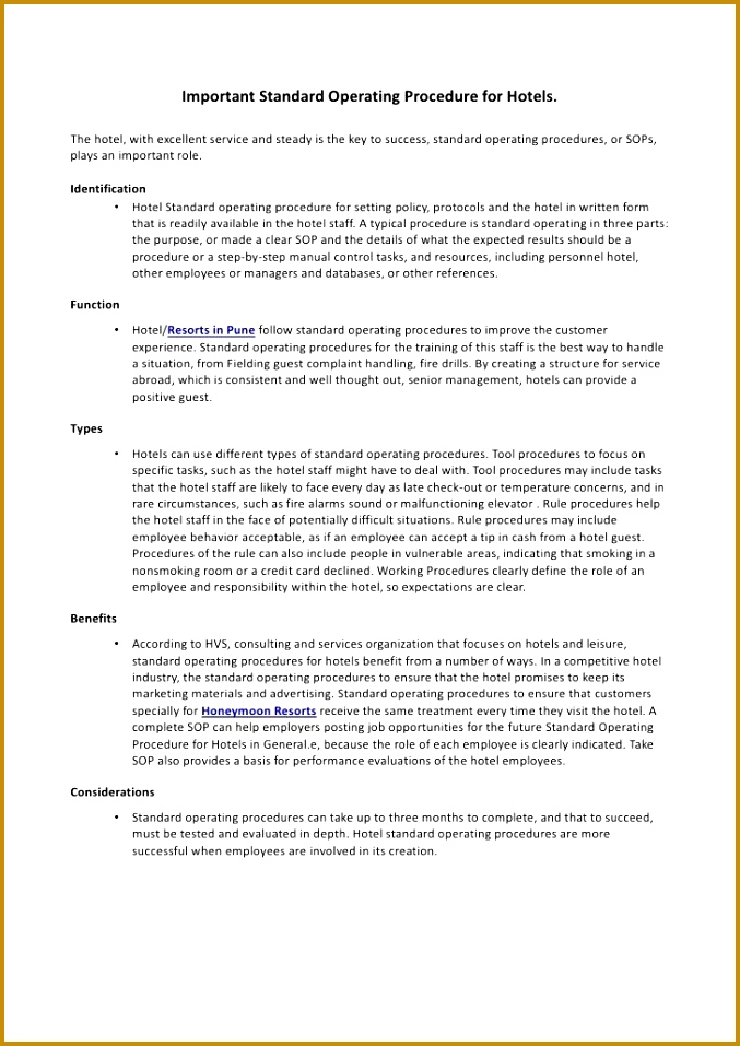 Free Sop Template Standard Operating Procedure Template 677957