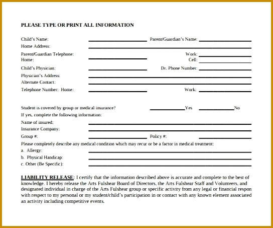 Sample Liability Release Form Examples 9 Download Free 453544