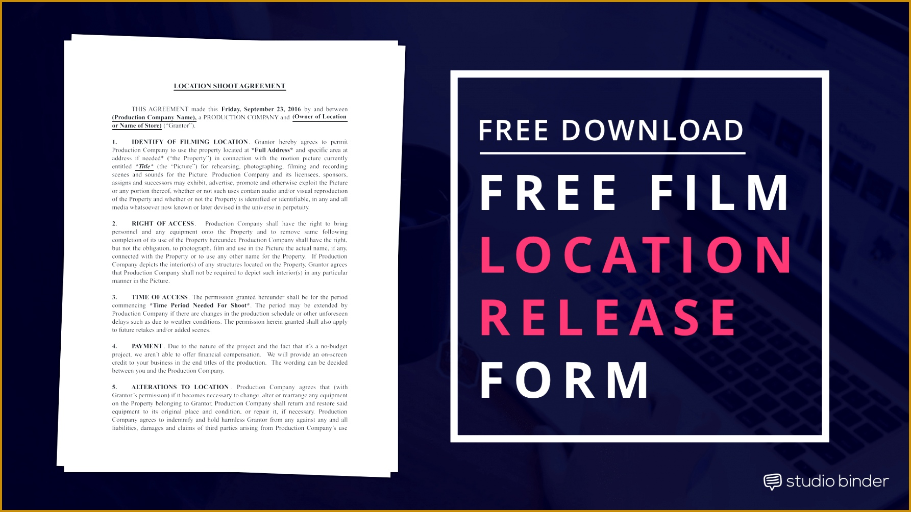 Download a Location Release Form Template FREE 10041785