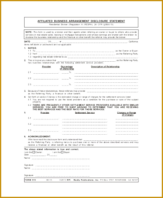 Free Sample Business Agreement Form 8 Examples In Word Pdf 558678