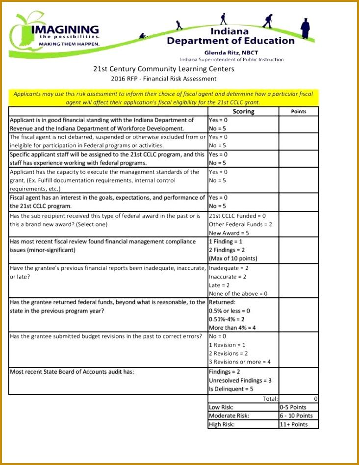 Financial Risk Assessment Template 948732