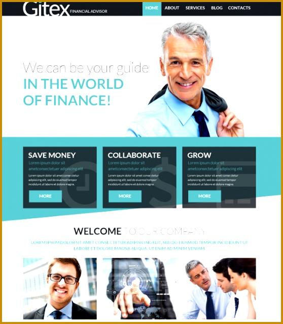 Financial Guide Joomla Website Template $75 640558
