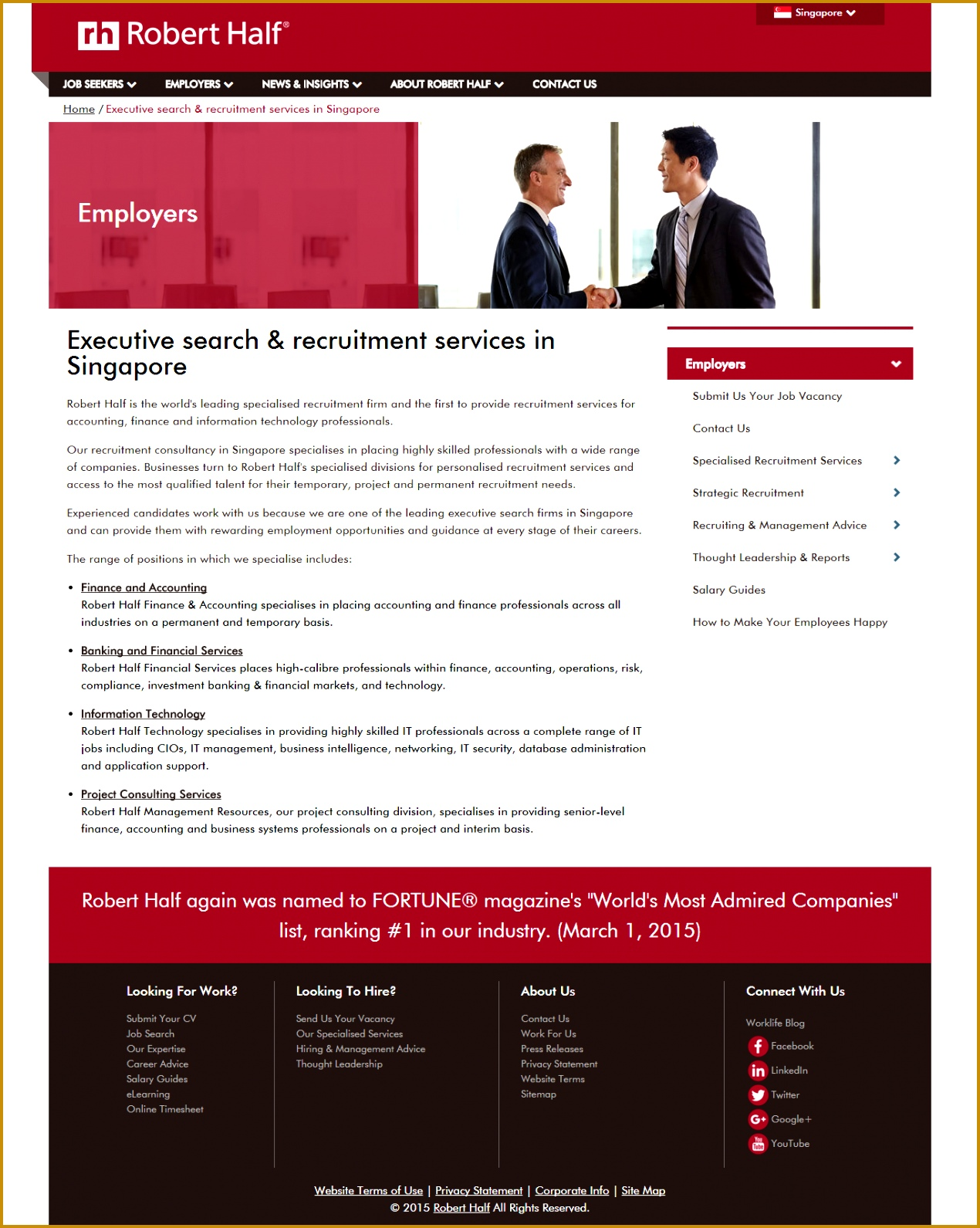 nice Website Design Proposal for Kelly Services Singapore 15911270