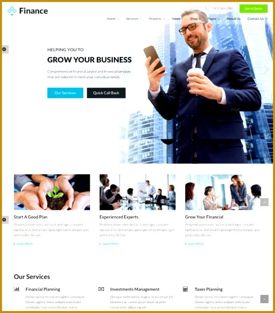 Financial Insurance HTML5 Website Template $18 558635