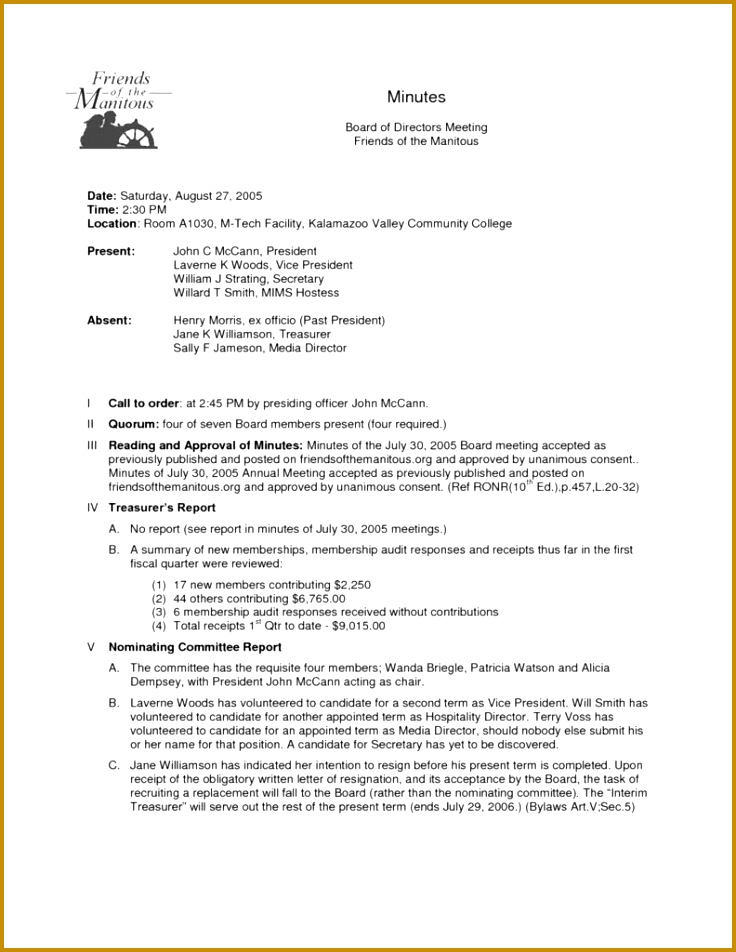 Non Profit Financial Statement Template and Doc Sample Meeting Notes Template Minute Sheet Template U Meeting 952736