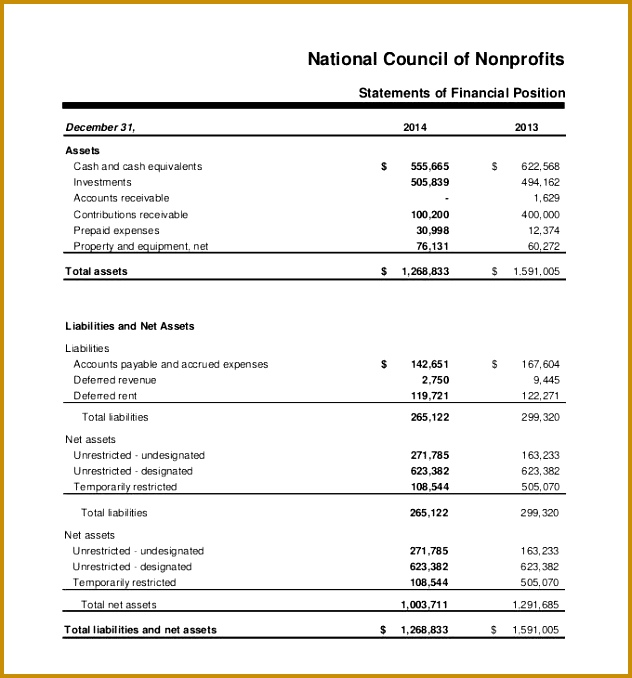Financial Statement Template Free Pdf Excel Word 678632
