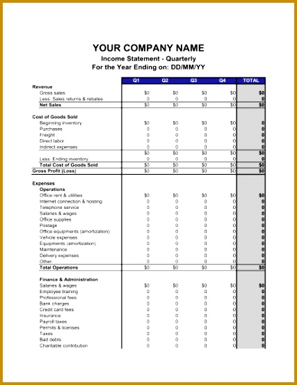 In e Statement Quarterly 1 Fill in the Blanks 2 Customize Template 3 Save As Print Sign Done 553427