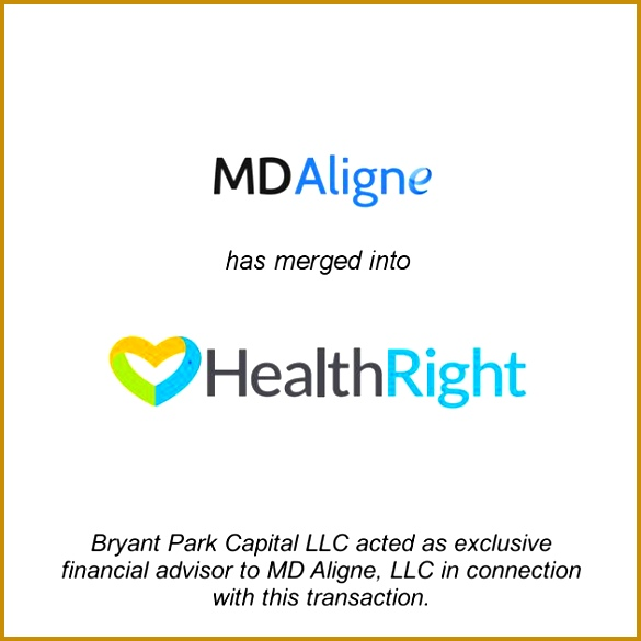 MD Aligne And Angelrush plete Merger To Form HealthRight LLC Small Business Finance Report 585585