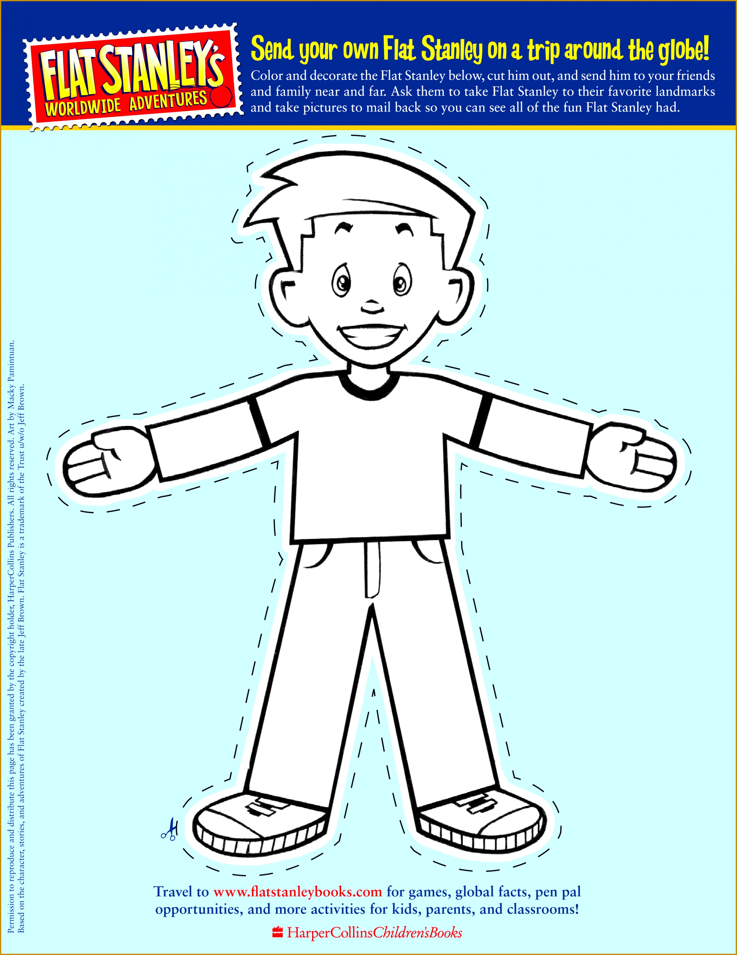 Flat Stanley cut out template front 30692371