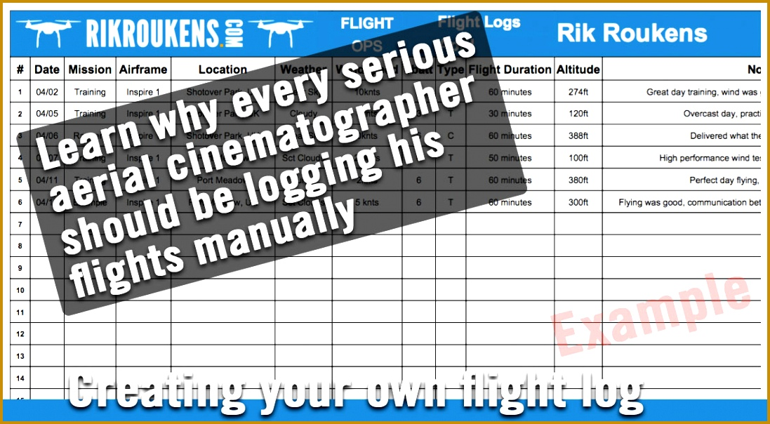 Using a flight log to keep track & build up your flying hours 6041097