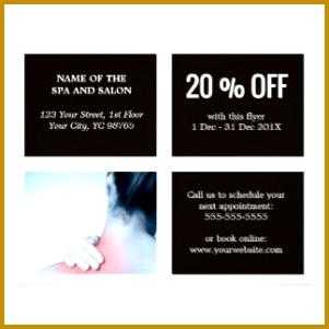 Elegant Dark White Blue Massage Therapist Flyer 301301
