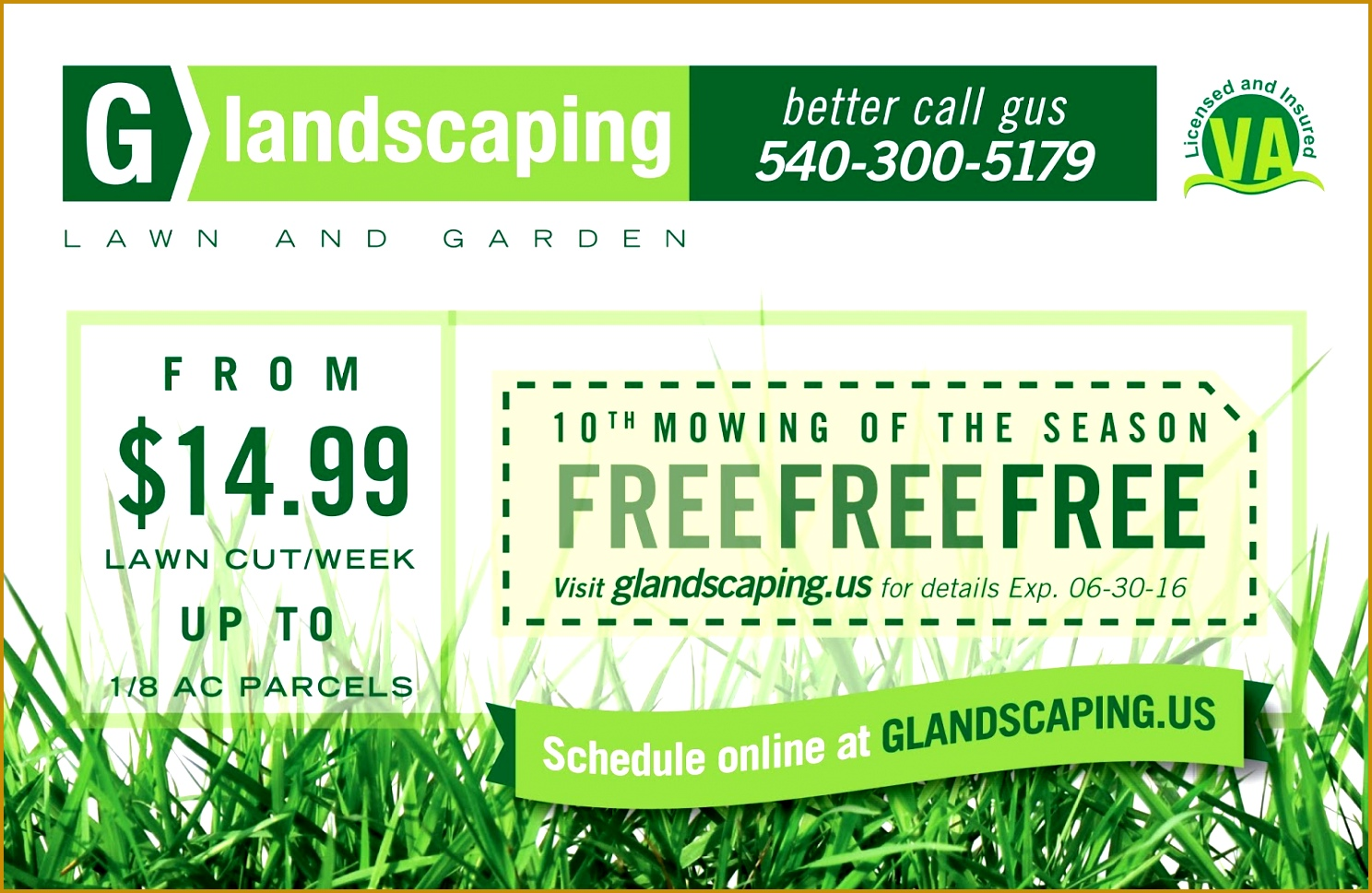 Flyer and Yard Sign for G Landscaping 1488969
