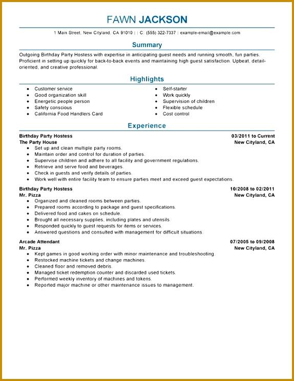 [Hostess Sample Resume] Unfor table Host Hostess Resume Examples To Stand Out Hostess Resume Sample Unfor table Host Hostess Resume Examples 744574