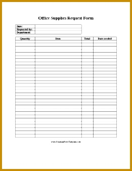 A requisition form to use in requesting office supplies Free to and print 338261