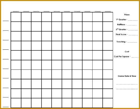 Free 100 Squares Football Pool 430555