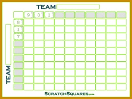 Football Square Grid Scratch f 202269