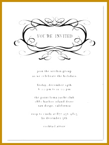 Elegant Business Invitations Formal Scrolls 292219