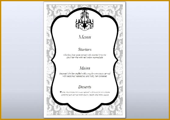 Formal Dinner Menu Template  Fabtemplatez