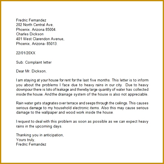 Grievance Letter 11 Doents In Pdf Word 539539