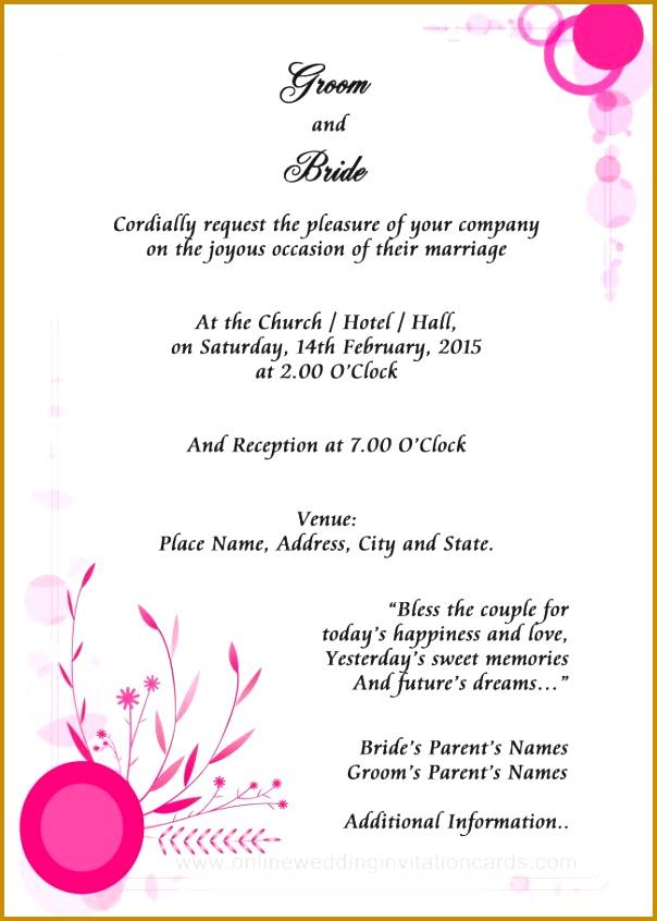 online wedding invitation sample Examples of wedding invitation wording 846604