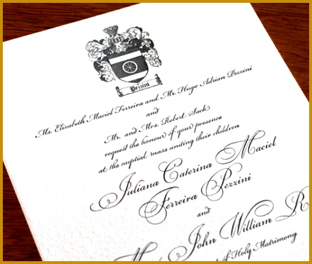 family crest fall wedding invitation with joint host wording 372441