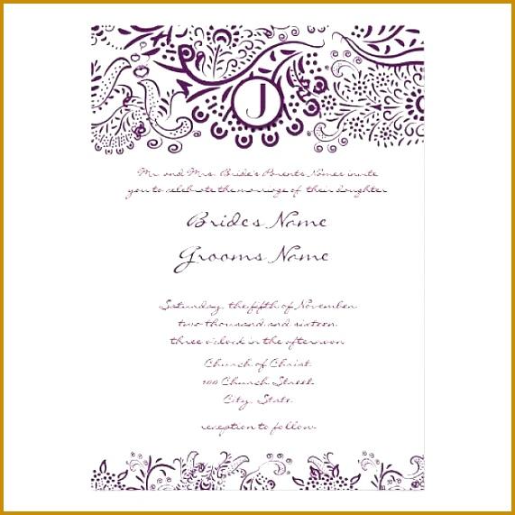 Formal Invitation Template Sample Wedding Invitation Templates Invitation Ideas Ideas 571571