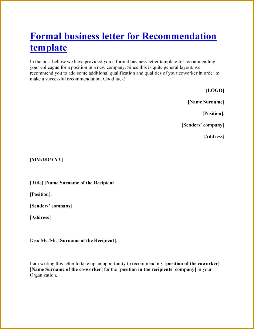 Printable Letter of re mendation 37 1083837