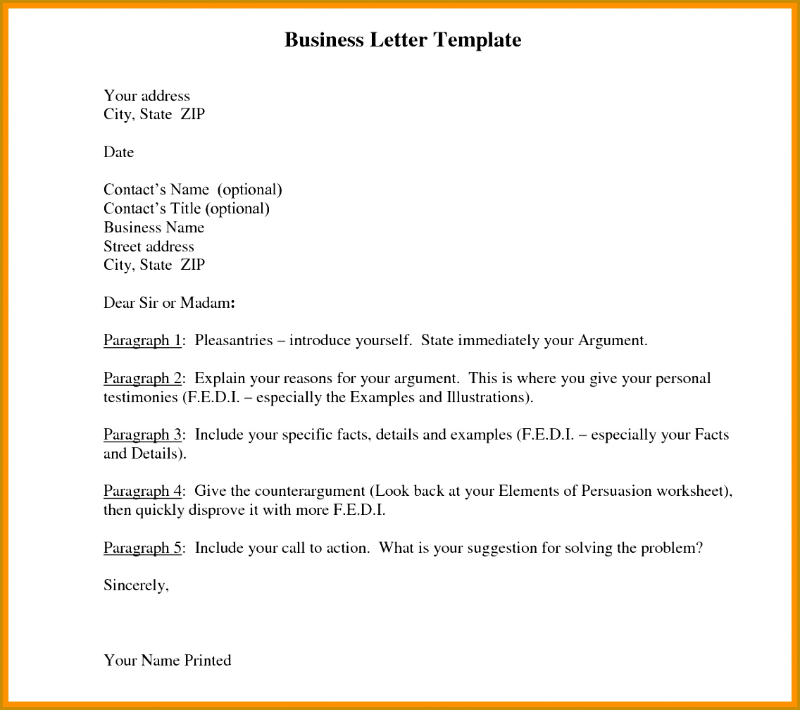 formal letter of re mendation template 6 formal letter template word abstract sample 10081136