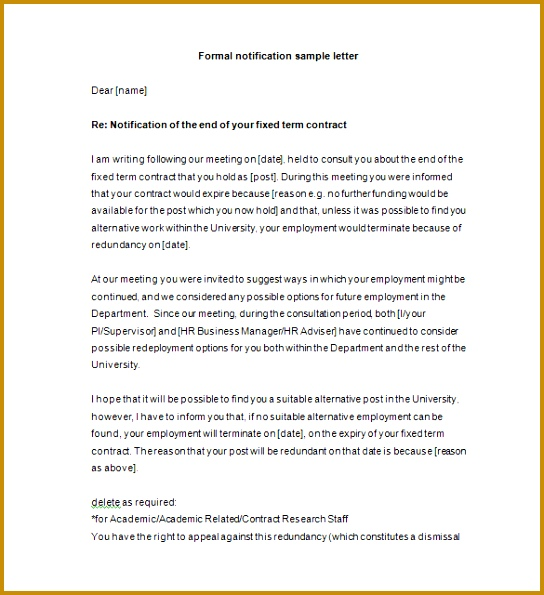 Formal Notice Letter PDF Download 544595
