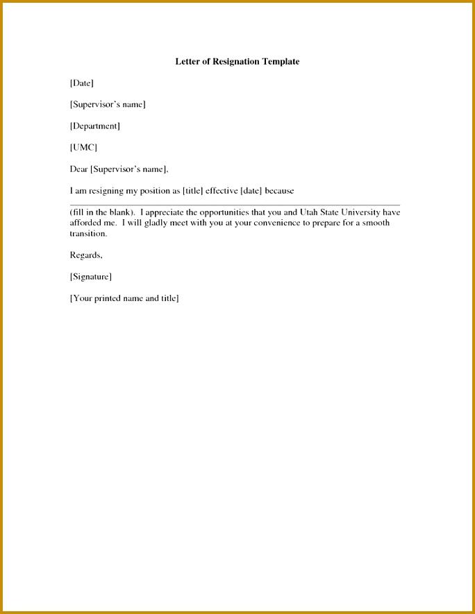 Resignation Letter Sample Free Atarprodfo 885684