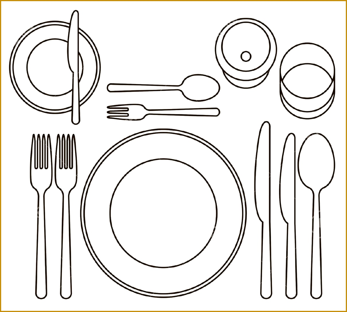 7 formal place setting template