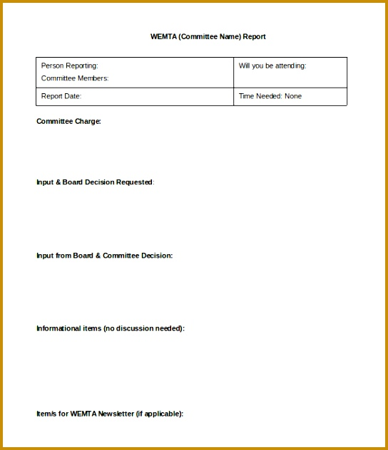 5 Formal Report Format Template   FabTemplatez   FabTemplatez