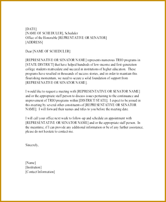 Formal Meeting Request Letter 678558