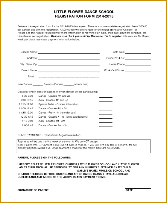 7 free car show registration form template