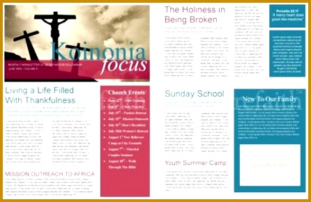 ebe405f0aac23be6801e4f5293f03b15 newsletter template free church church newsletter 290446