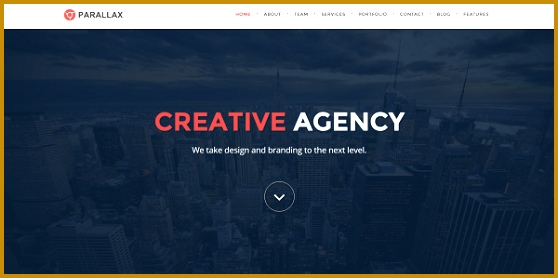 Parallax Weebly Template 278558